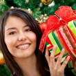 Royalty-Free Stock Photo: Woman with Christmas gift