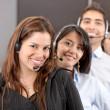 Customer services representative team — Stock Photo