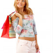 Woman with bags — Stock Photo #7739467