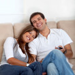 Foto Stock: Couple at home
