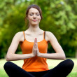 Yoga session - Stock Photo