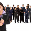 Stock Photo: Business woman and team
