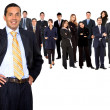 Business man and team — Stock Photo