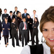 Business woman and team — Stock Photo #7739832