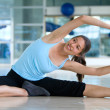 Woman stretching — Stock Photo #7739897