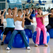 Pilates class in gym — Stok Fotoğraf #7739929