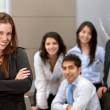 Business woman and group — Stock Photo