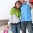 Shopping couple — Stock Photo #7739984