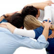 Group hug - Stock Photo
