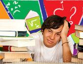 Stanco di studiare — Foto Stock