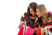 Frauen, die die taschen einsehen — Stockfoto