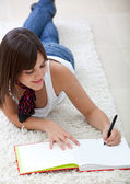 Girl studying at home — Stock Photo