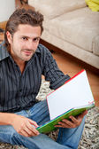 Man studying at home — Stock Photo