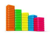 Colorful data graphic — Stock Photo