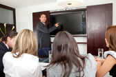 Business man in a presentation — Stock Photo