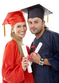 Graduated couple — Stock Photo