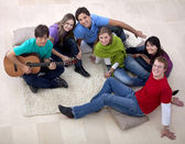 Gathering playing music — Stock Photo