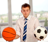 Undecided business man — Stock Photo
