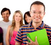 Gruppe von studenten, die isoliert — Stockfoto