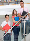 Gruppe von studenten mit ordnern — Stockfoto