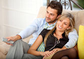 Lovely young couple relaxing — Stock Photo