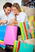 Shopping couple — Foto de Stock