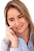 Kobieta na telefon — Zdjęcie stockowe