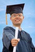 Happy graduation man — Stock Photo