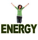 Energetic woman — Stock Photo
