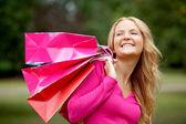Shopping frau portrait — Stockfoto