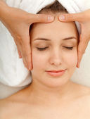 Massagem de rosto — Foto Stock