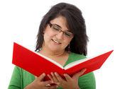 Donna studiare isolata — Foto Stock