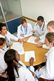 Doctors in a meeting — Stock Photo