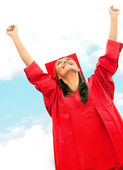 Happy graduated woman — Stock Photo