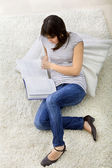 Casual woman reading — Stock Photo