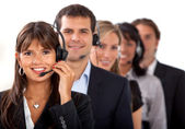 Customer representative service team — Stock Photo