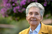 Elderly woman portrait — Stock Photo