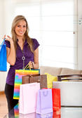 Shopping woman with bags — Stock Photo