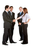 Business group handshake — Stock Photo