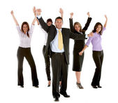 Equipo de negocios emocionado — Foto de Stock