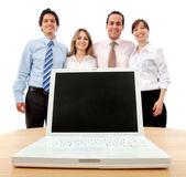 Business team with laptop — Foto de Stock