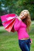 Woman with shopping bags — Zdjęcie stockowe