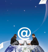Donne invio e-mail — Foto Stock