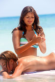 Massage at the beach — Stock Photo