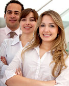 Negócios grupo sorrindo — Foto Stock