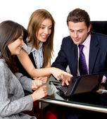 Business with a laptop — Stock Photo