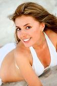 Bikini woman smiling — Stock Photo