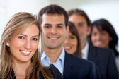 Business team smiling — Stock Photo