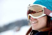 Retrato de esquiador — Fotografia Stock