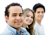 Casual group smiling — Stock Photo